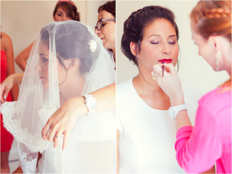 coiffure mariage par Sandrine Hair, maquillage par Aude B Colrat
