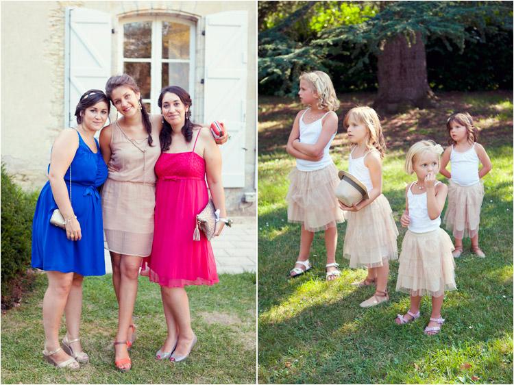 les photos des invites, les enfants d'honneur en tons pastels