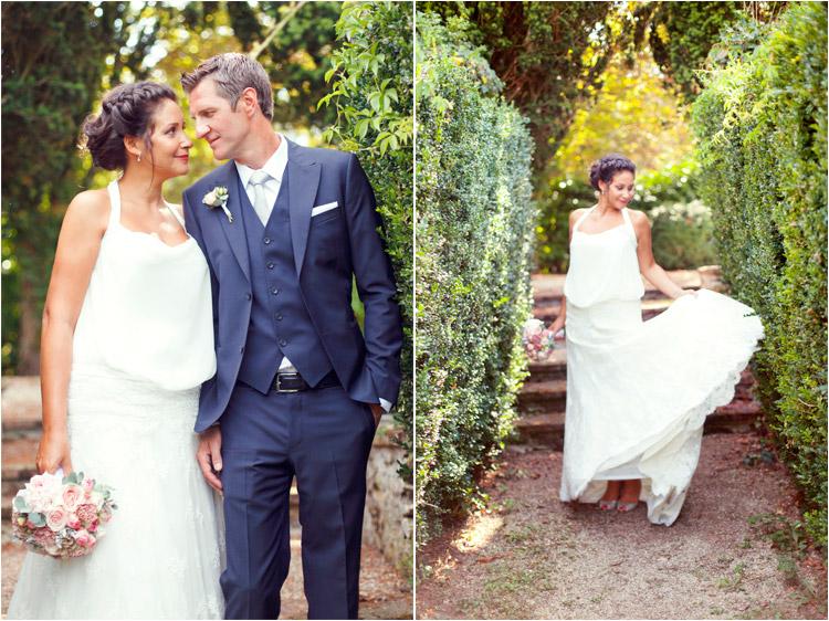 Elena Tihonovs, mariage boheme au Chateau de Croisillat à Toulouse, la mariée en robe boheme