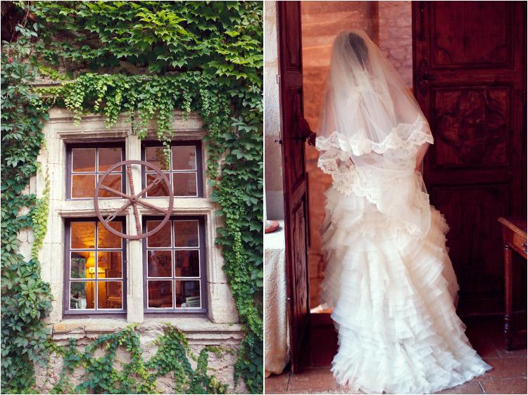 Elena Tihonovs, mariage château Mauriac dans le Tarn, la mariée en robe Cymbeline