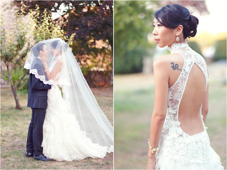 Elena Tihonovs, photographe mariage Tarn, la mariée avec un tatouage