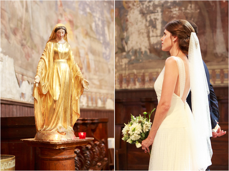 Cérémonie religieuse du mariage à l'église de Verfeuil