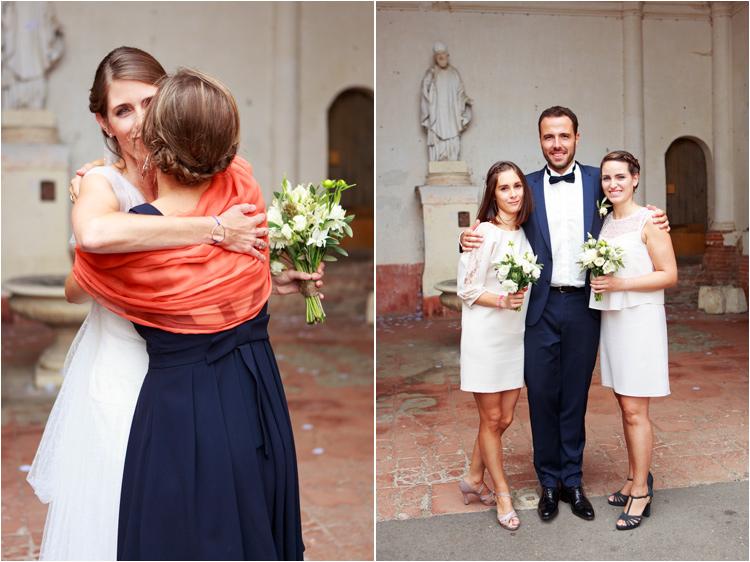 Ceremonie de mariage à l'eglise de Verfeuil
