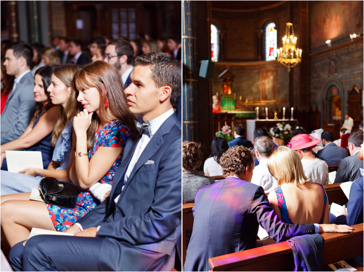 Les invitées au cérémonie de mariage religieux dans le Tarn