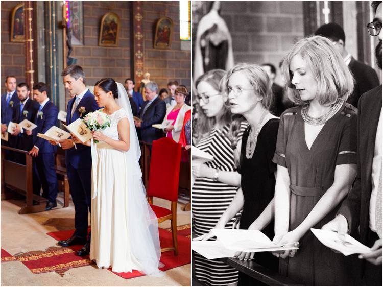 La cérémonie de mariage religieux à l'église Castres