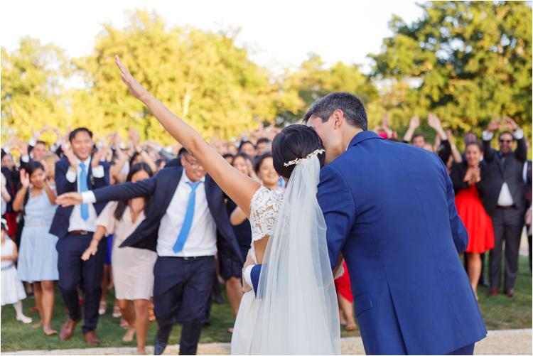 Les mariées et les invités du mariage