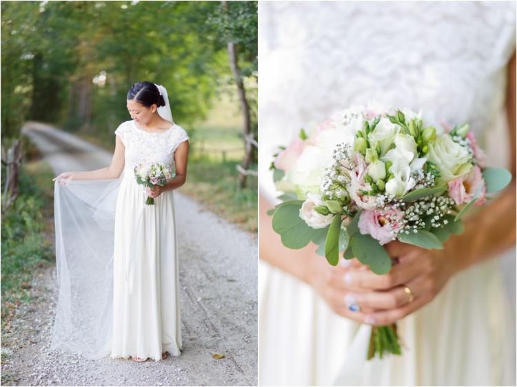 Les portraits de la mariée le jour de son mariage