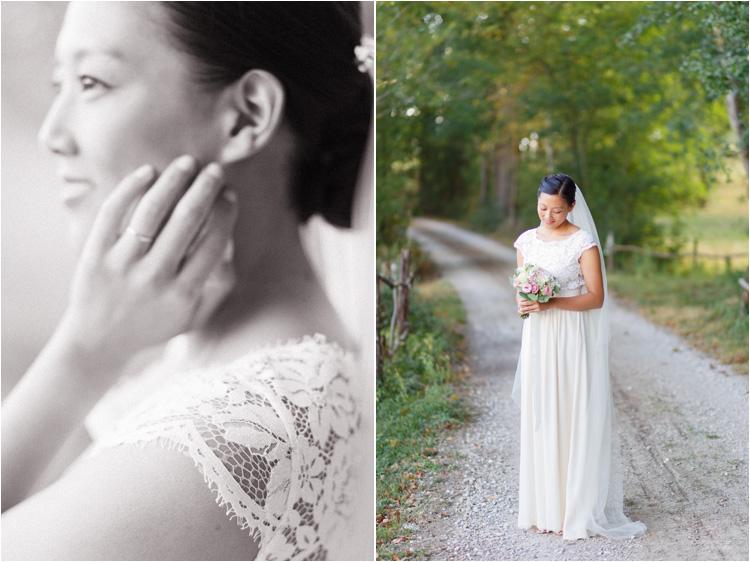 Photos de la mariée la jour du mariage dans le Tarn