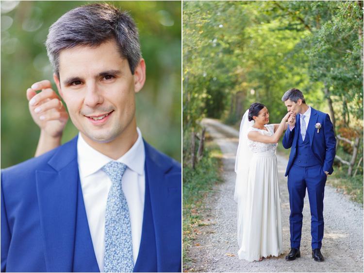 Photos des mariés le jour de leur mariage à Castres