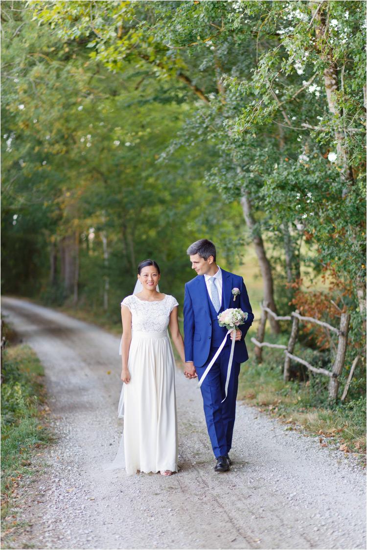 Les photos décontractes de jeunes mariés