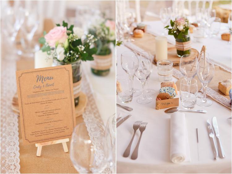 Décoration mariage blanc et craft