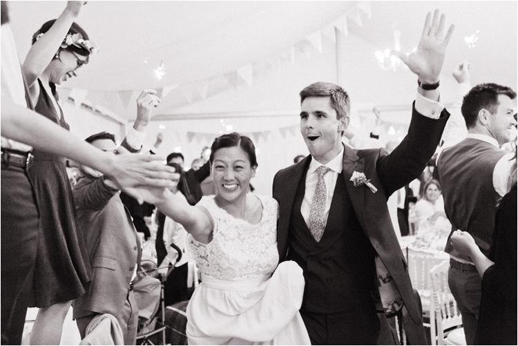 L'entrée de mariées dans la salle