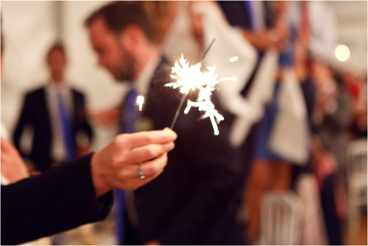 """L""""entrée de mariées dans la salle avec les étincelles"""