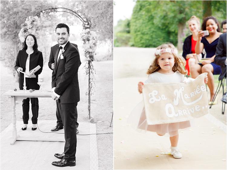 Les enfants d'honneur au mariage moulin de Nartaud